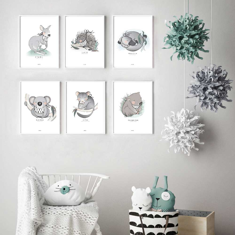 Koala Print For Kids Rooms.