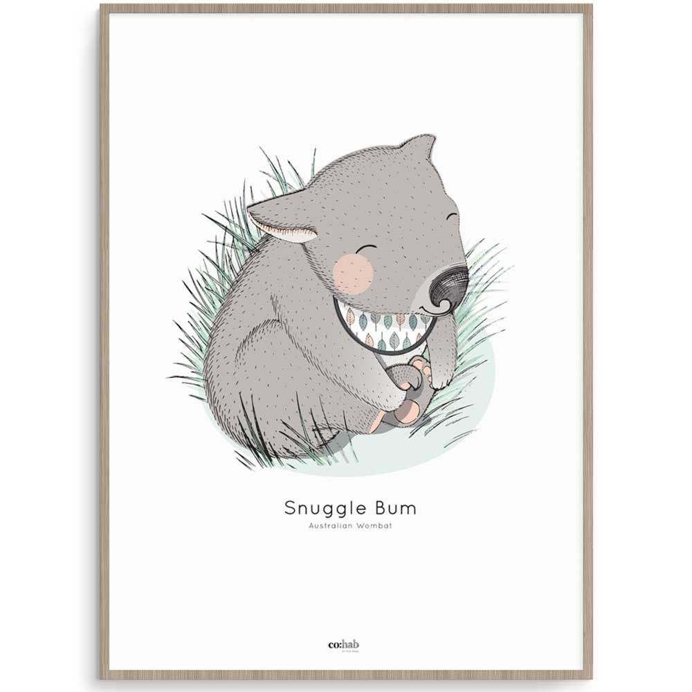 Wombat Aussie Animal Nursery Art Print