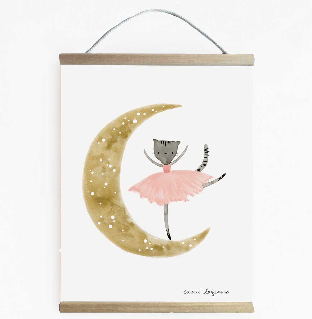 Adorable Ballerina Inspired Wall Banner For Girls