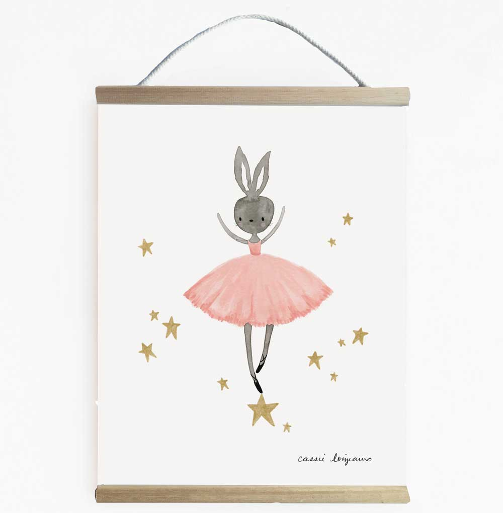 Beautiful Ballerina Inspired Girls Wall Banner