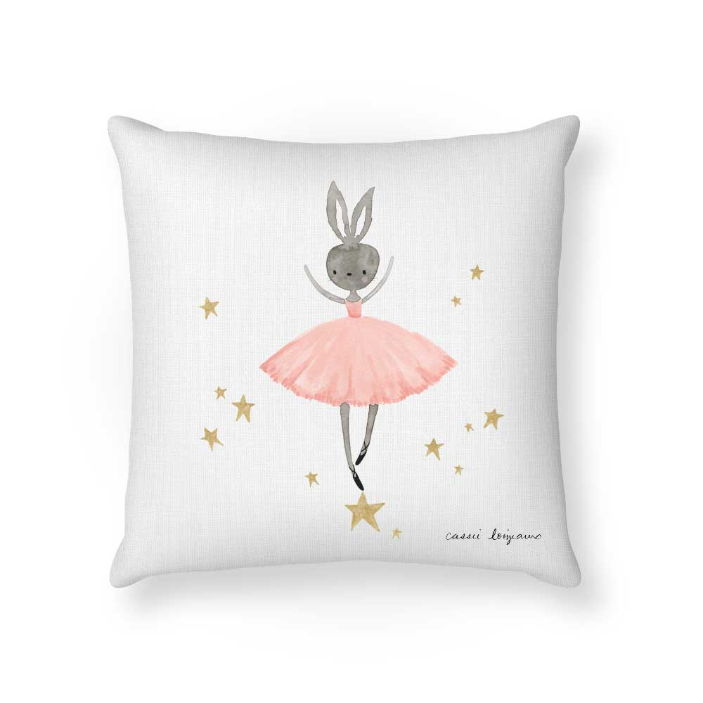 Ballet Bunny Cushion