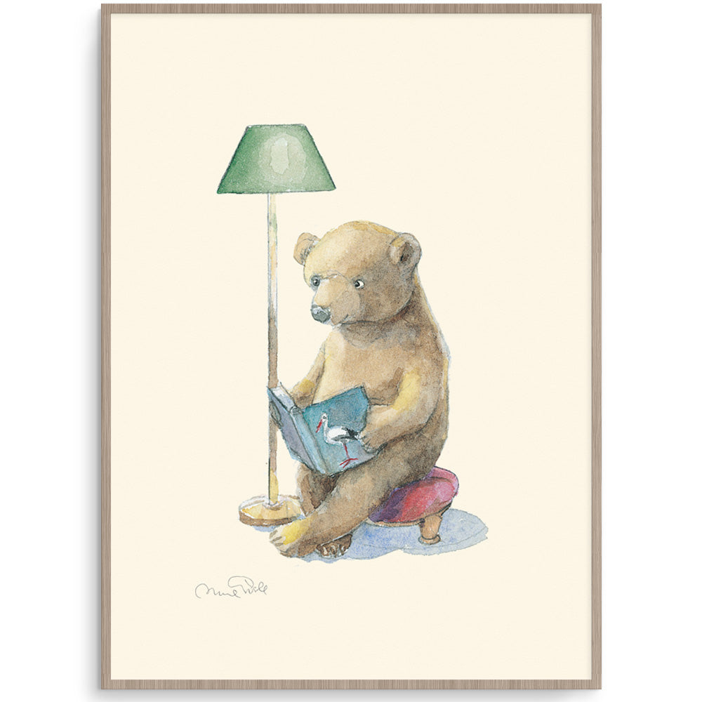Bear Reader Toddler Room Art