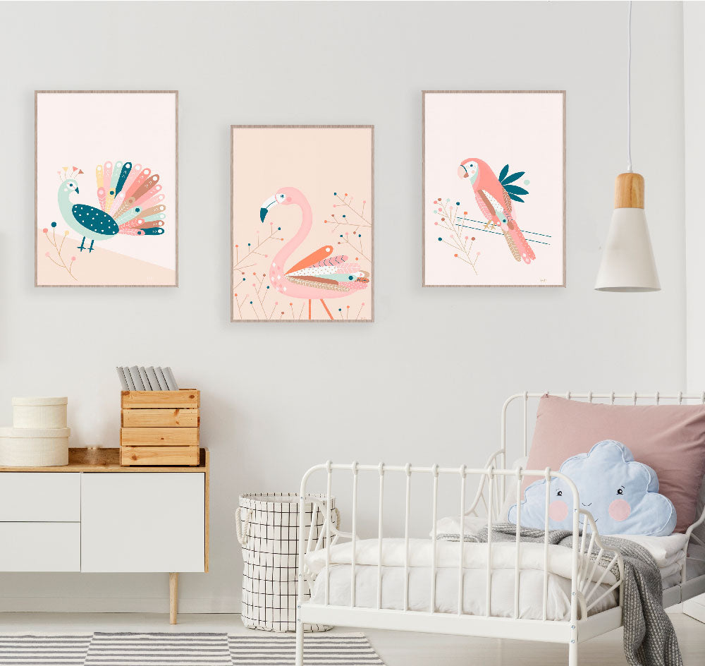 Peacock Girls Wall Art