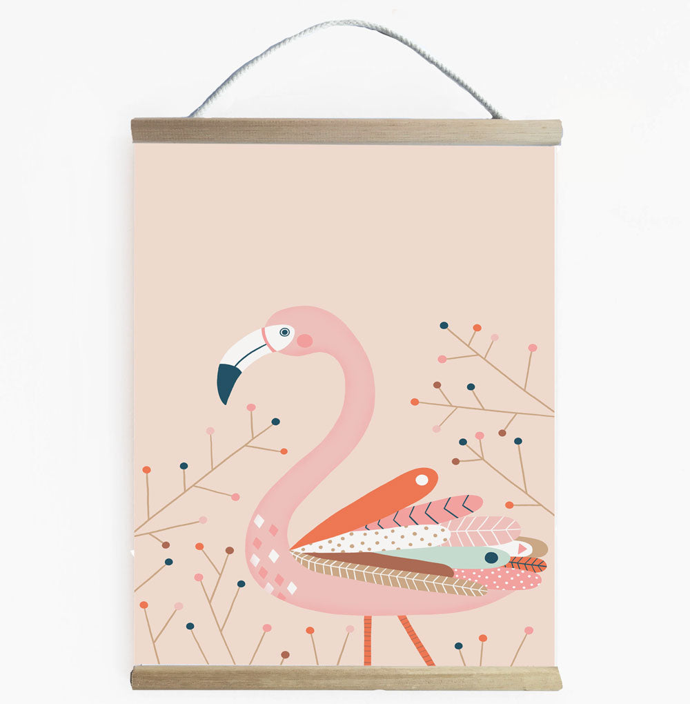 Fresh And Fun Flamingo Wall Banner For Girls Room