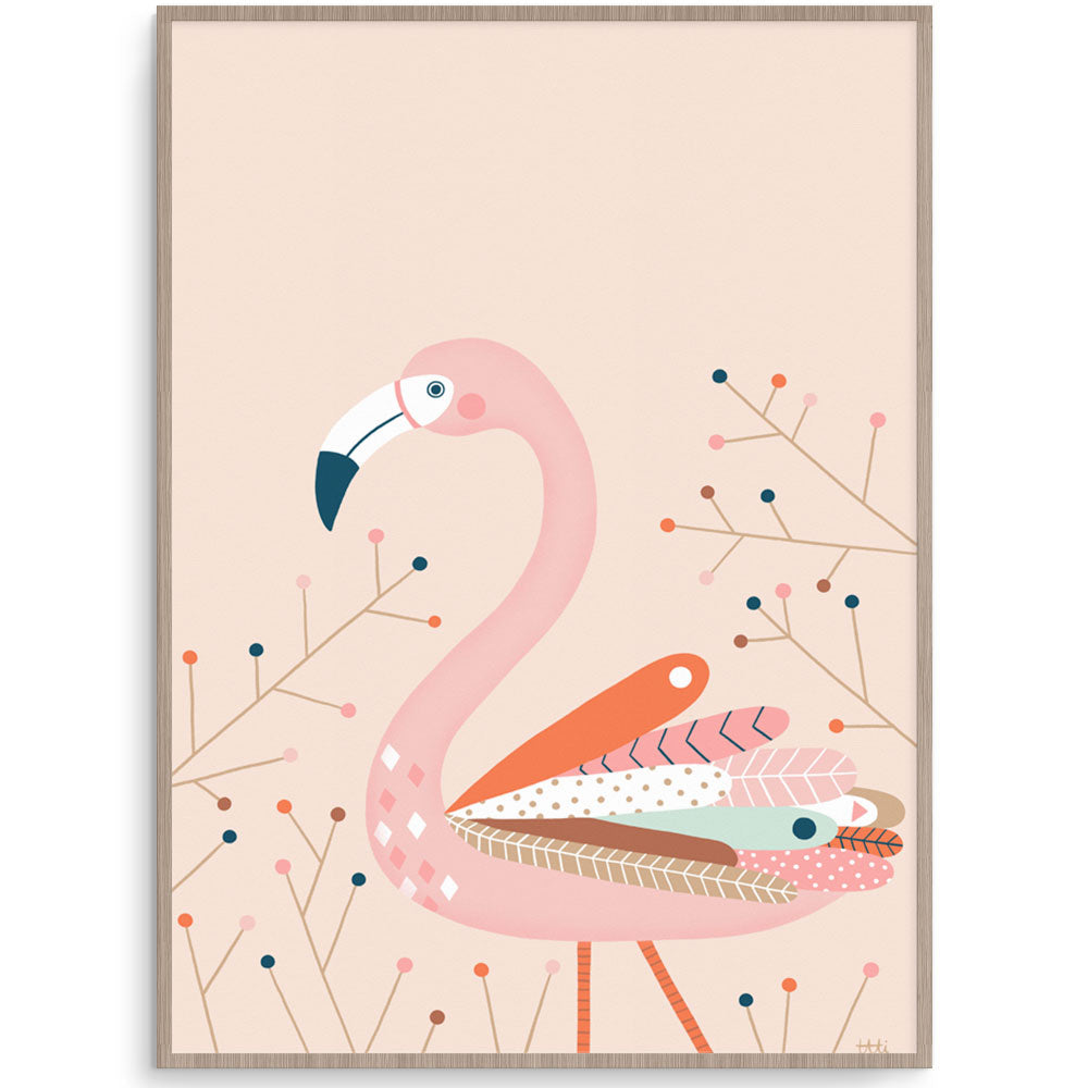 Fresh And Fun Flamingo Wal lArt For Girls Room