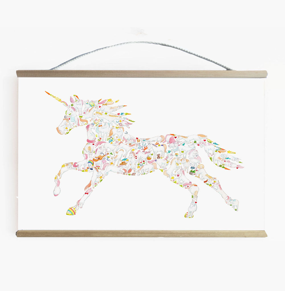 Incredible Unicorn Wall Banner For Girls Room