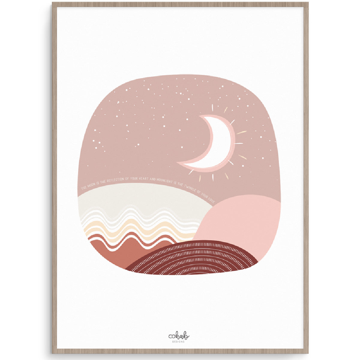 Boho Moon Nursery Or Kids Room Art