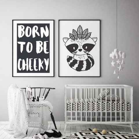 Modern Monochrome Wall Art For Kids