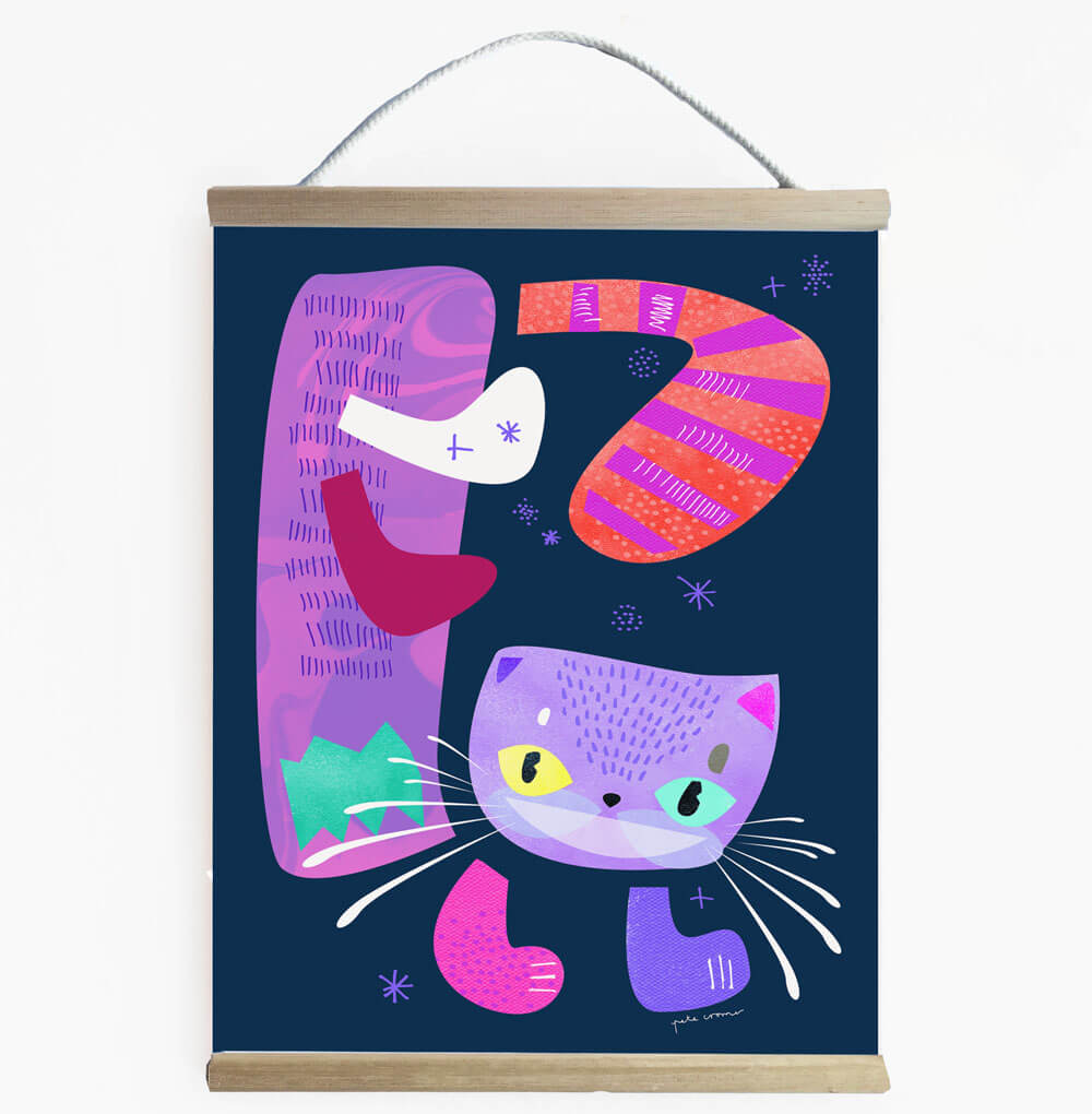 Cheshire Cat Vibrant Alice In Wonderland Themed Wall Banner