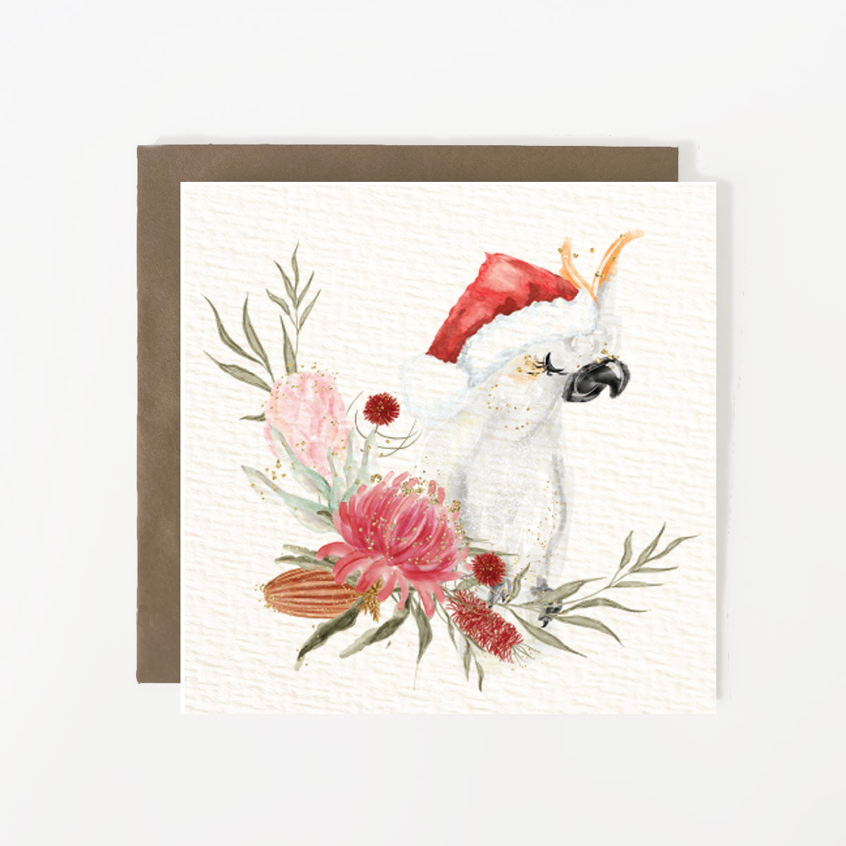 Cockatoo Christmas Card