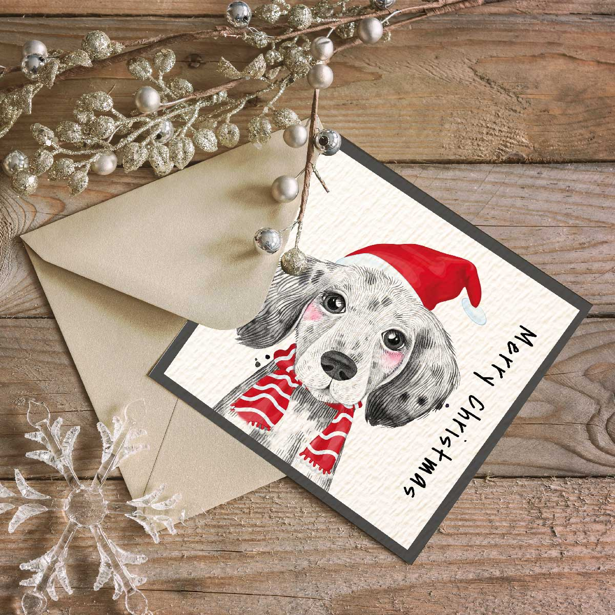 Festive Dog Christmas Card