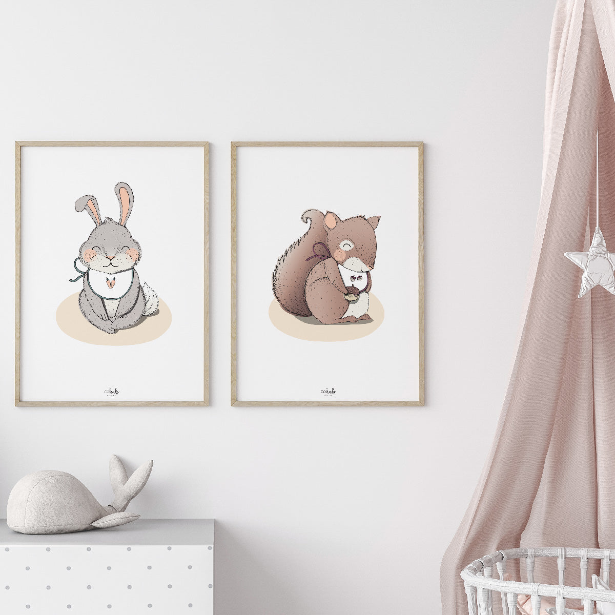 Cute Squirrel Nursery Print