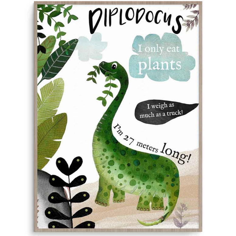 Diplodocus Dinosaur Wall Art For Boys Room