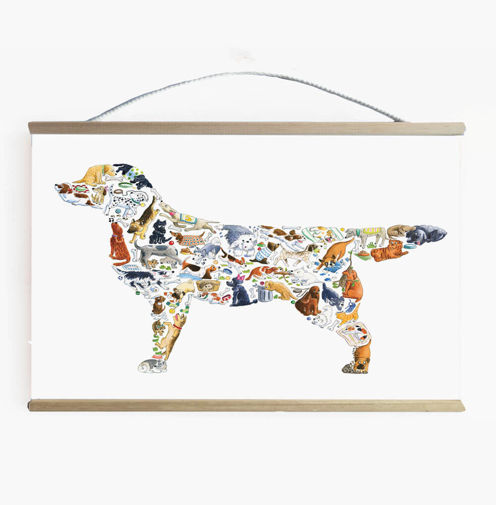 Dog Wall Art Banner