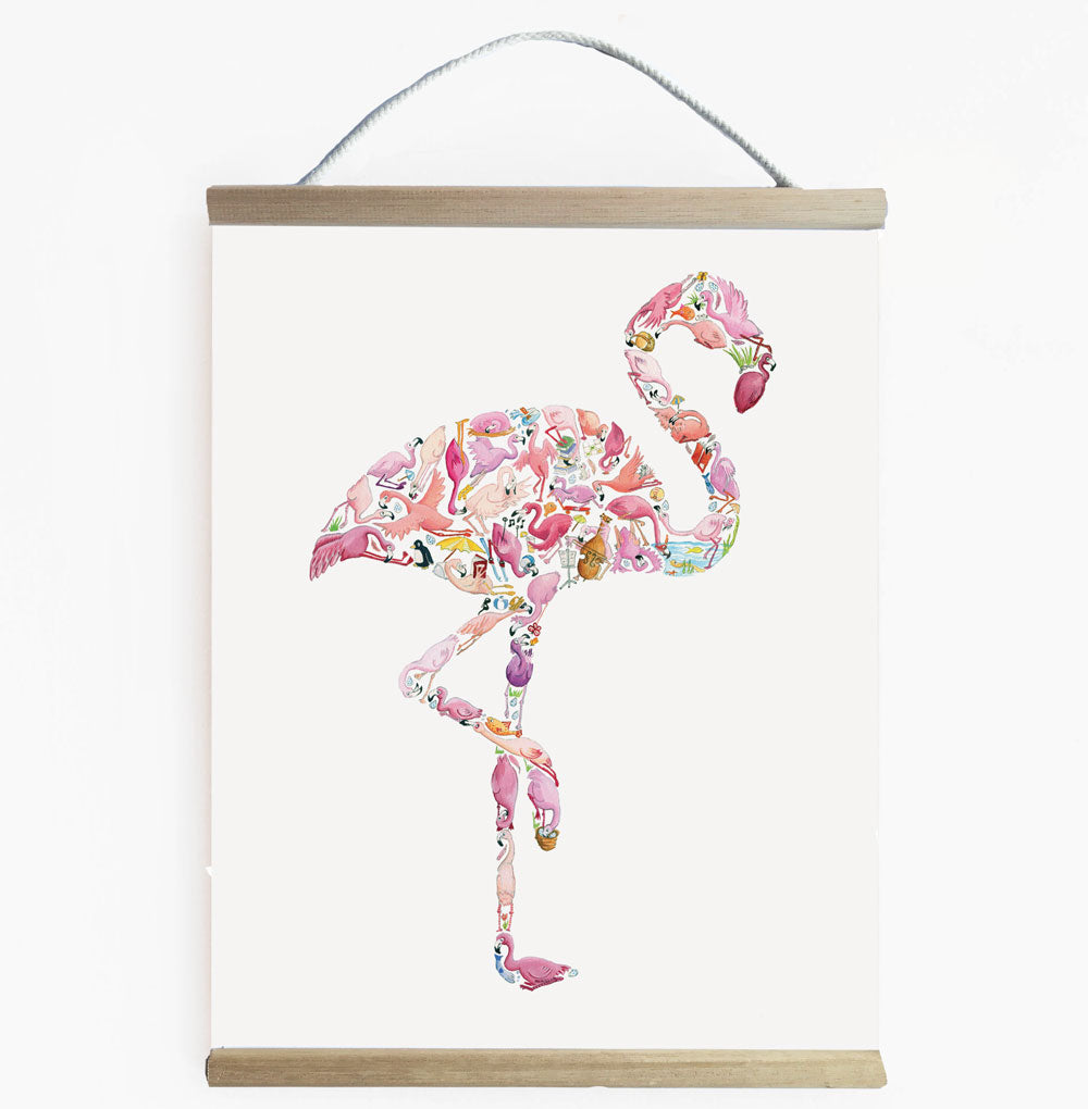 Bright And Wonderful Flamingo Wall Art Banner
