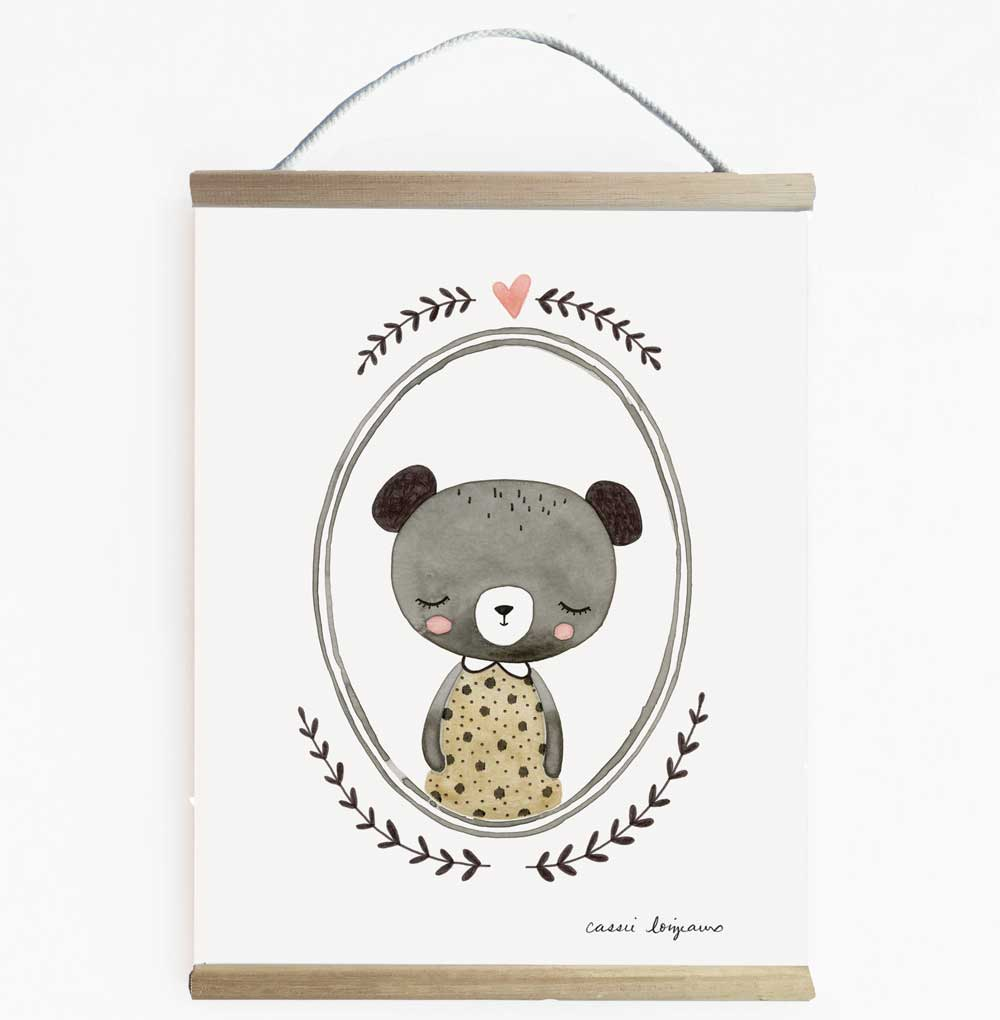 Forest Portrait Bear Nursery Art And Children's Wall Banner