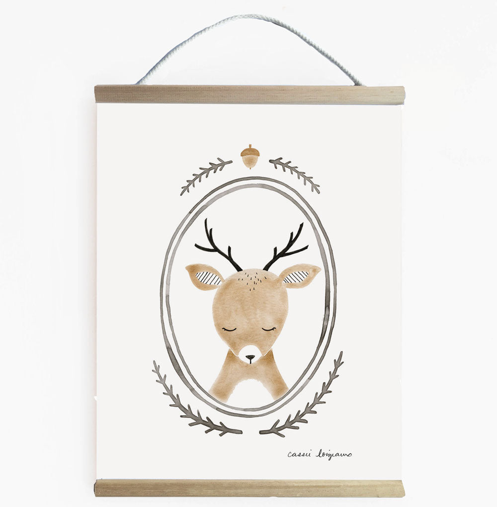 Forest Portrait Deer Woodland Themed Nursery Wall Banner