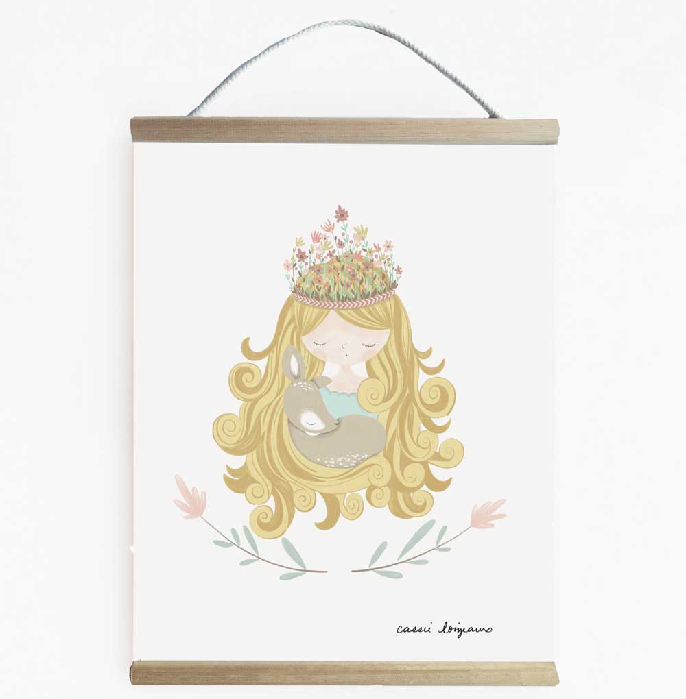 Pretty Forest Princess Girls Room Banner