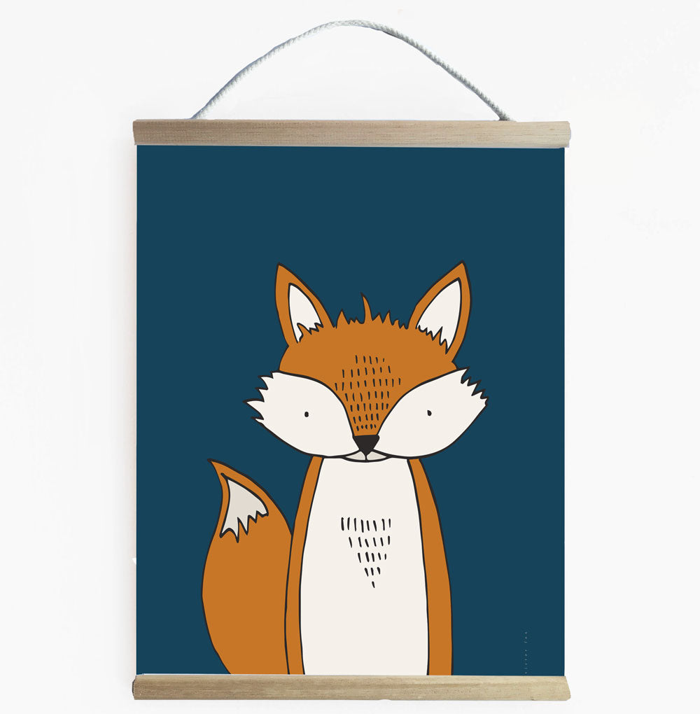 Modern Nordic Style Fox Wall Banner For Kids Room