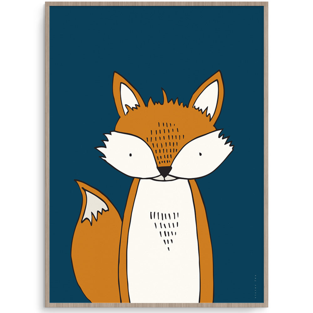 Modern Nordic Style Fox Wall Art For Kids