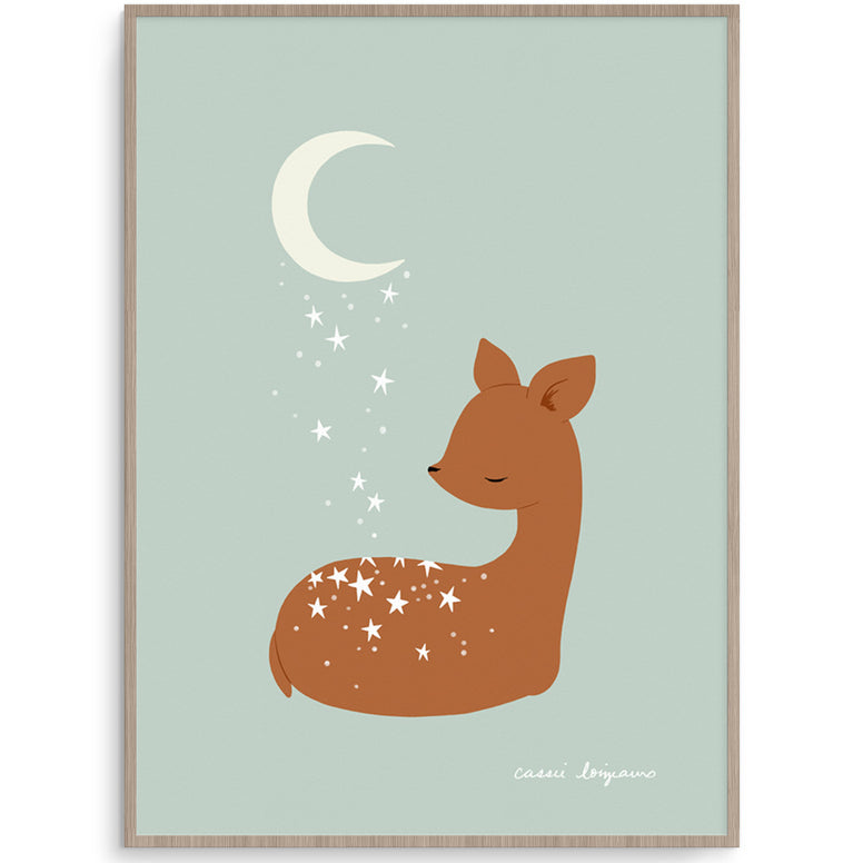 Goodnight Deer Gender Neutral Nursery Art