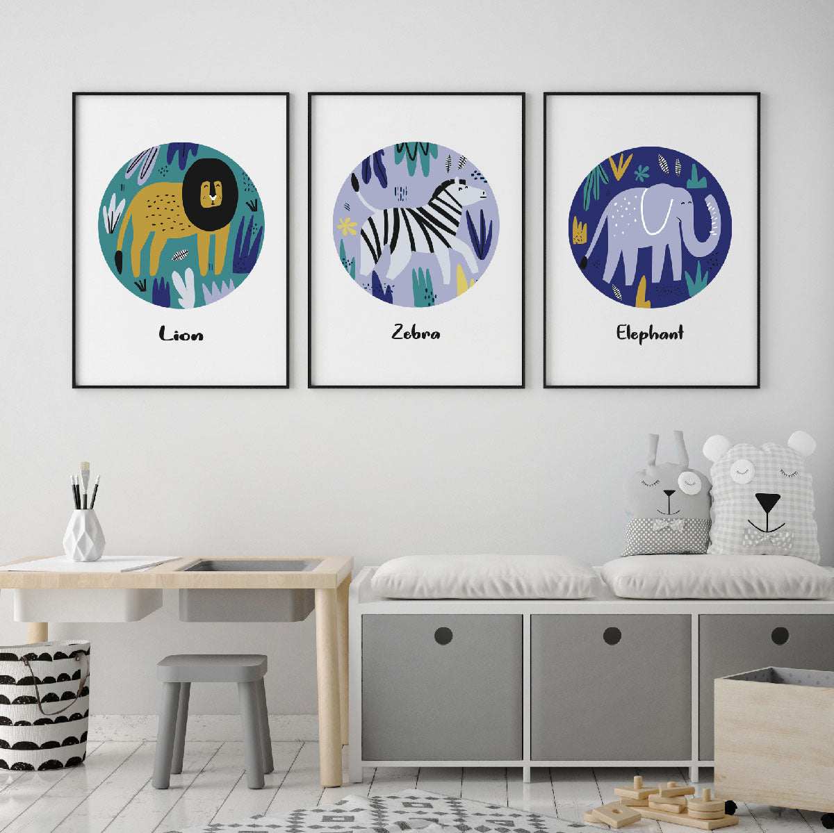 Safari Elephant Kids Print