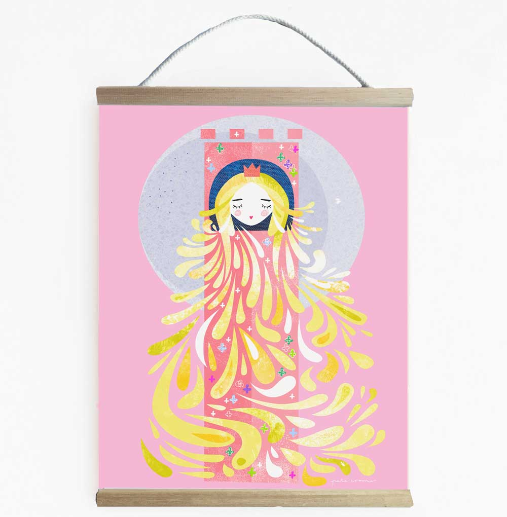 Lady Locks Delightful Fairytale Wall Banner For Girls