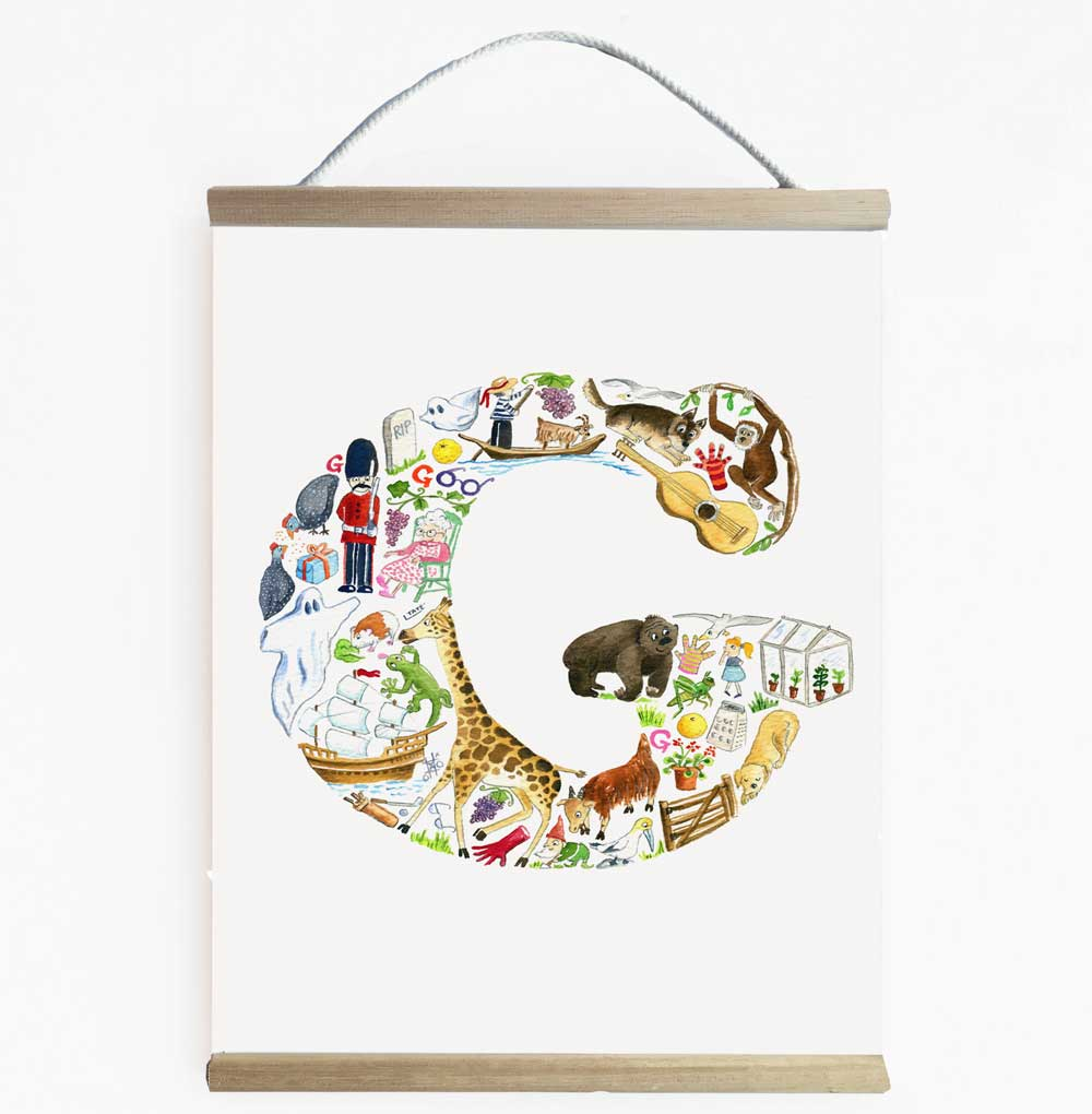 Letter G Kids Wall Banner  - Find Everything Beginning With The Letter C