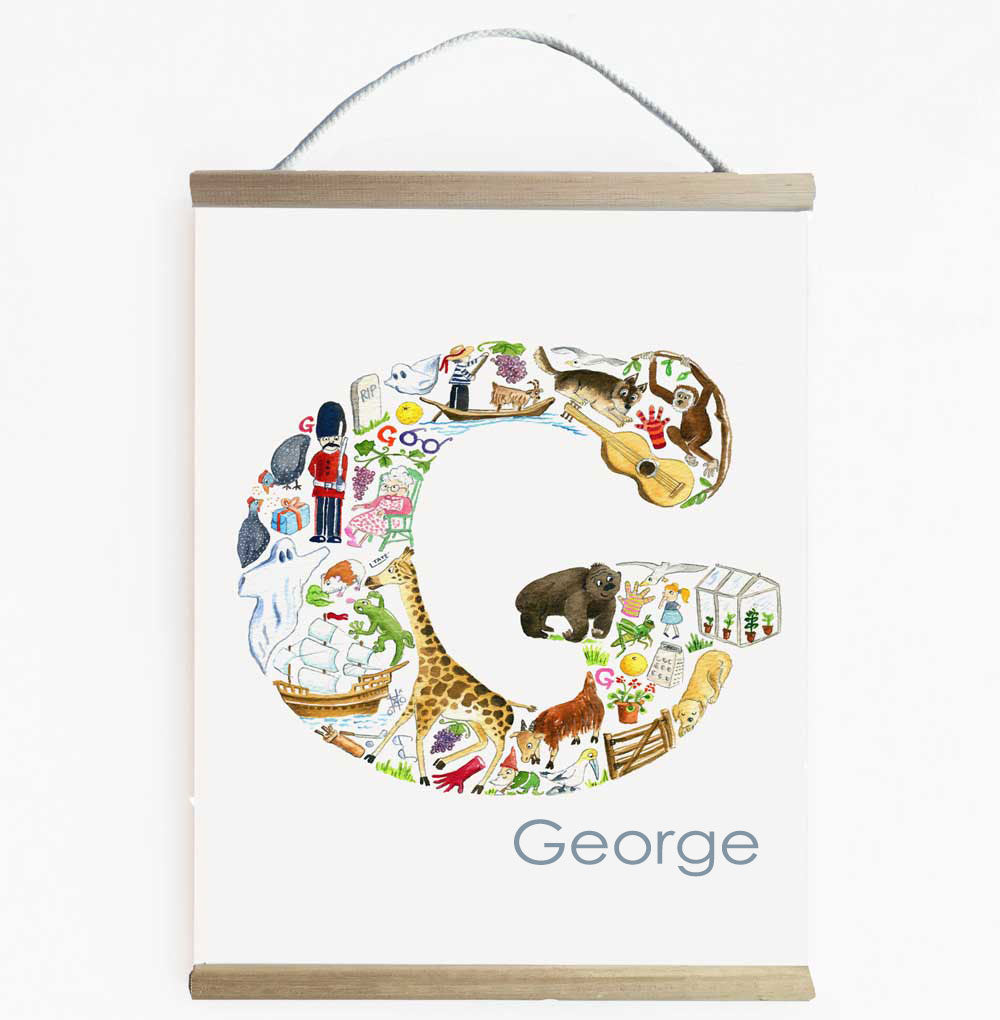 Personalise Their Room With A Letter G Wall Banner