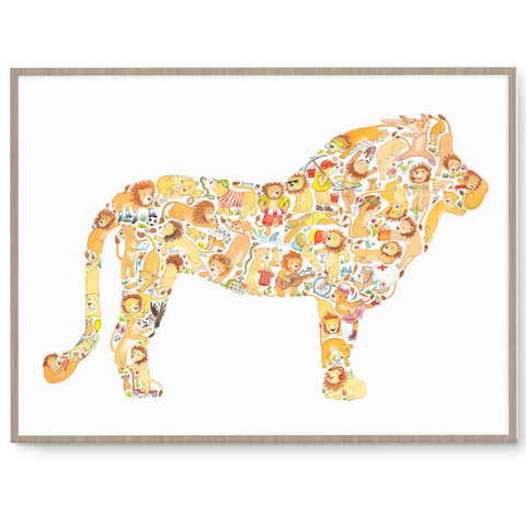 Lion Kids Wall Art Print
