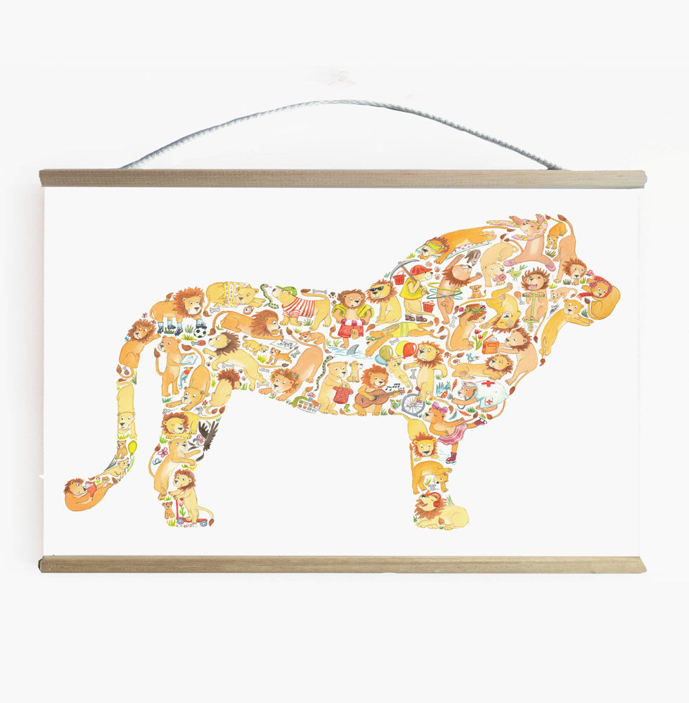 Lion Ready To Hang Wall Banner