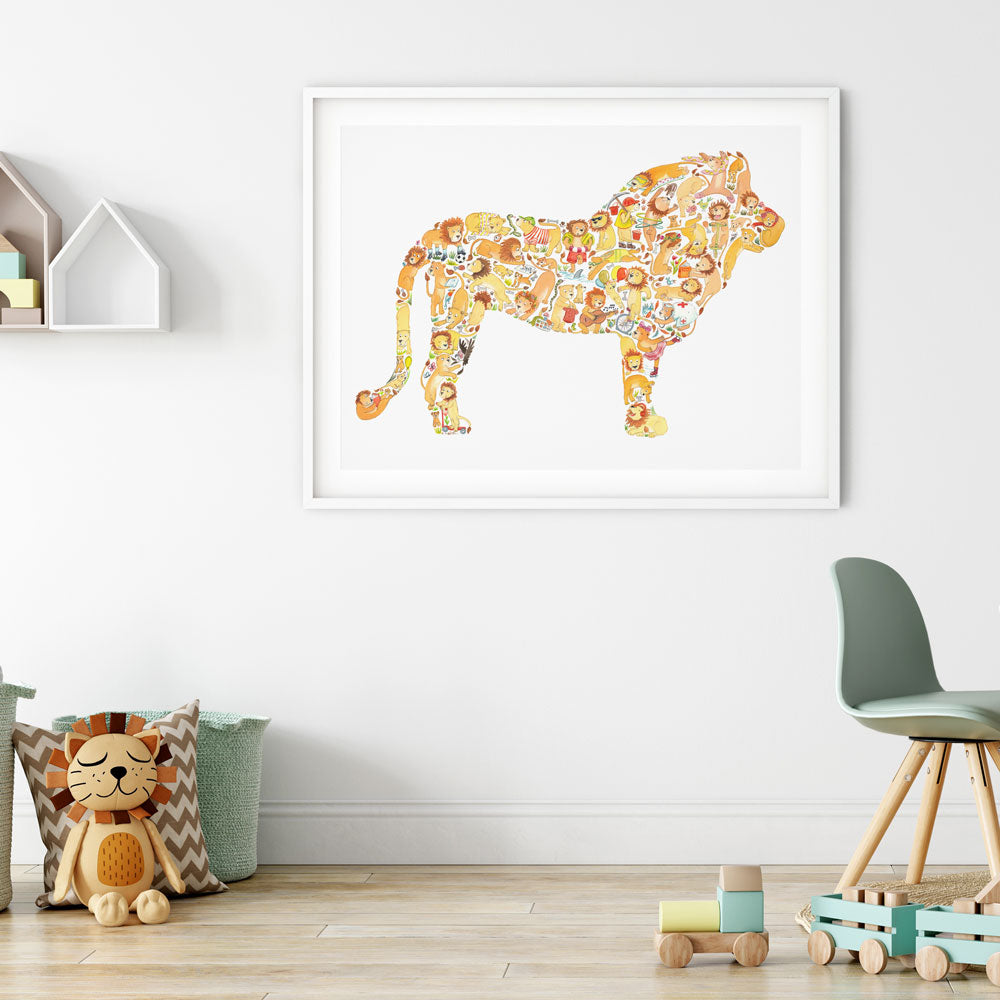 Lion Print For Kids
