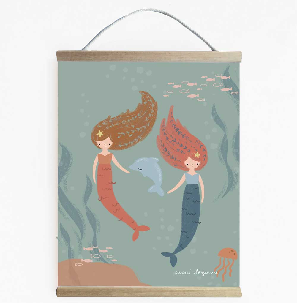 Mermaid Friends Wall Banner For Girls