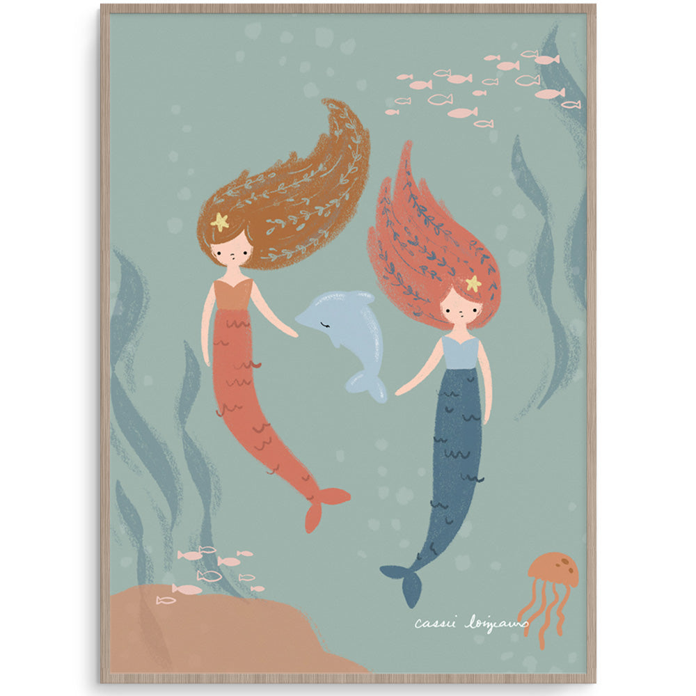 Mermaid Friends Wall Art For Girls