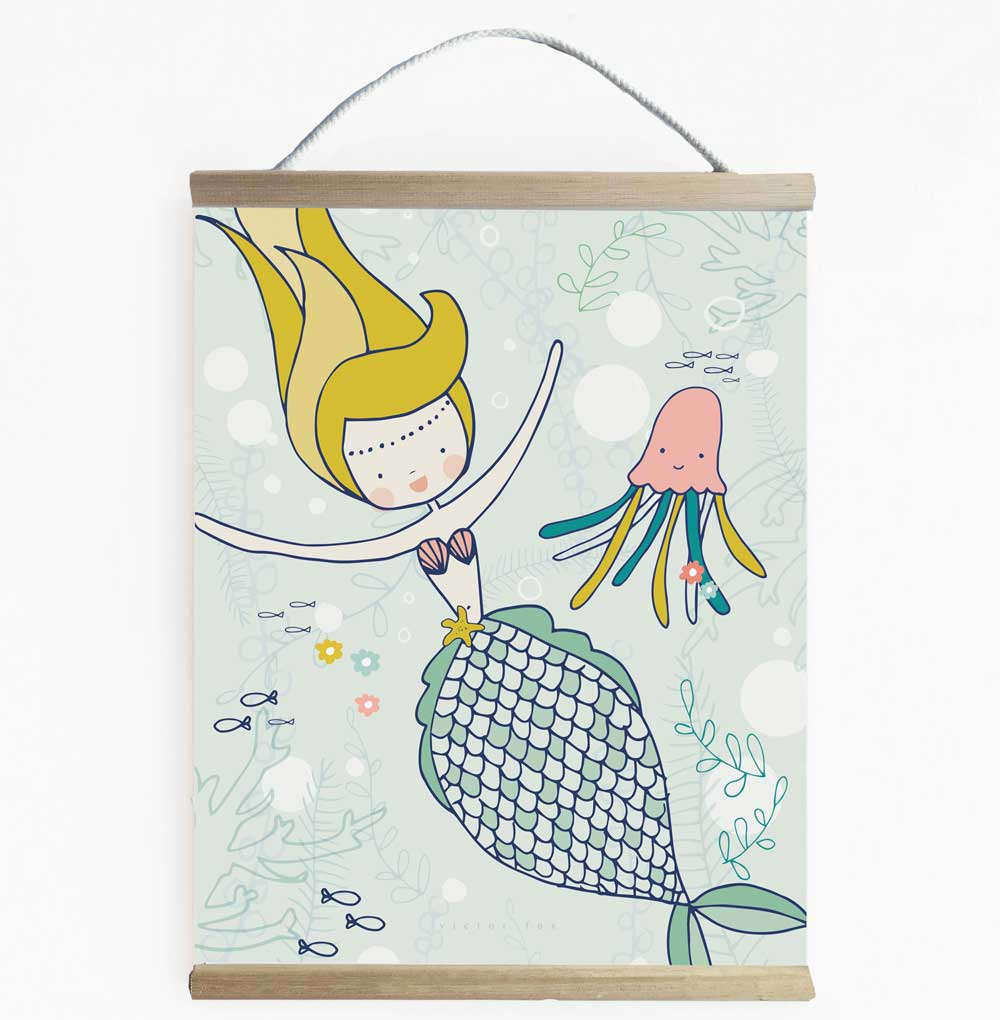 Fun Mermaid Wall Banner