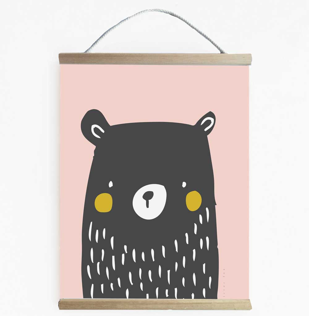 Ms Grizzly Bear Wall Banner For Girls