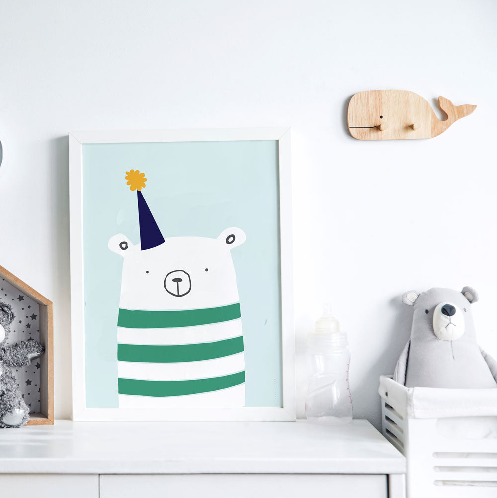 Party Bear Fun And Contemporary Wall Art For Boys