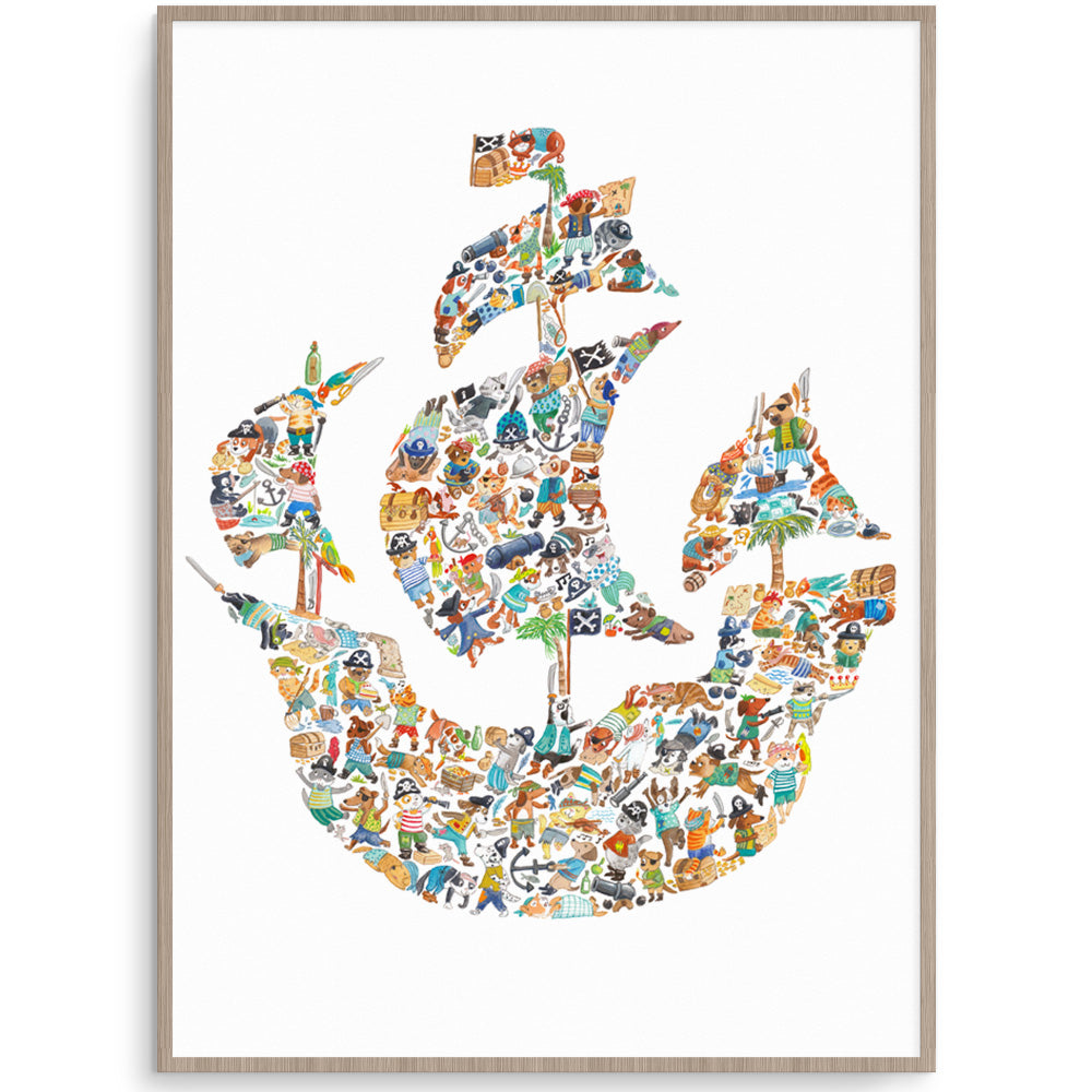 Pirate Ship Boys Wall Art