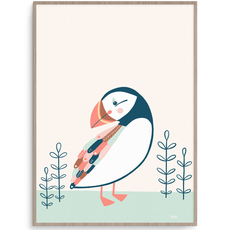 Puffin Scandi Kids Wall Print