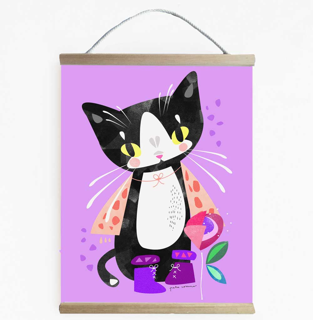 Puss In Boots Fun Fairytale Wall Banner
