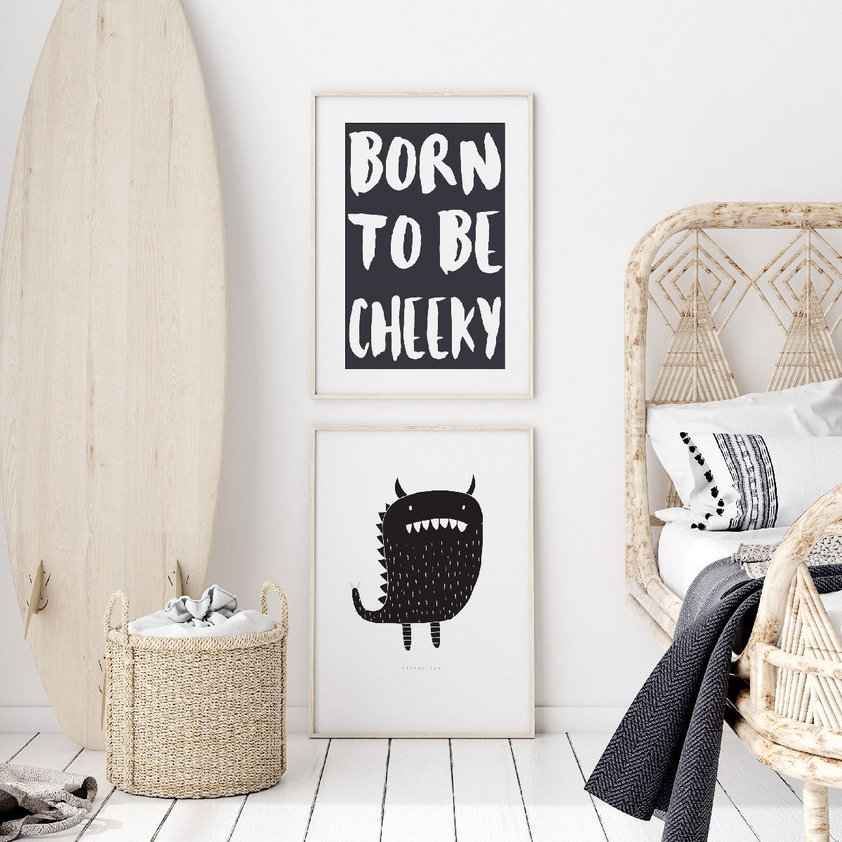 Monster Wall Art Print For Boys