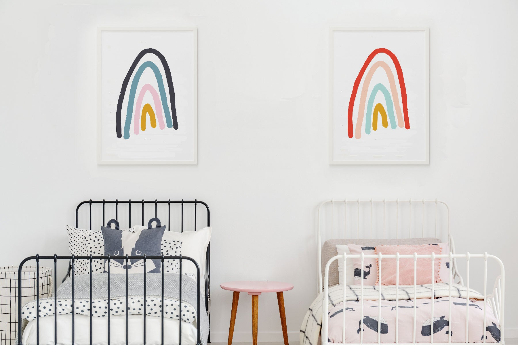 Rainbow Pop Nursery And Kids Room Art