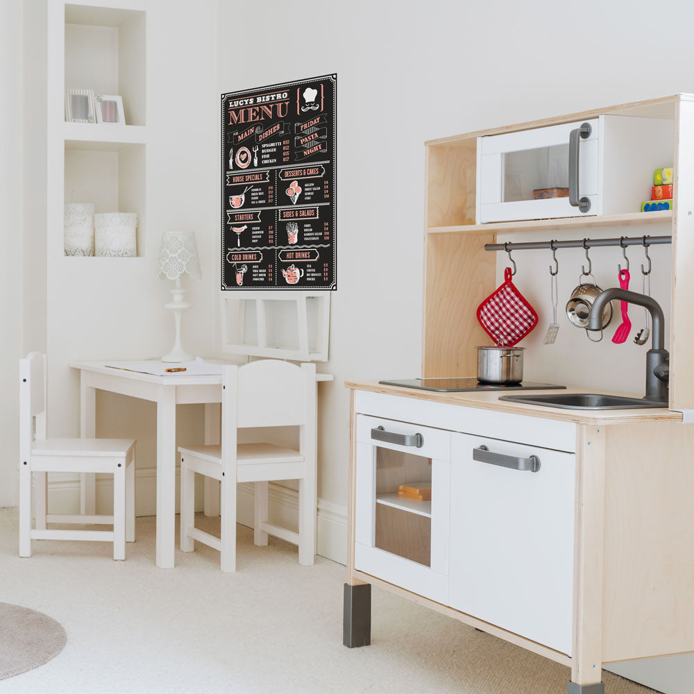 The Perfect Kids Play Kitchen Accessory - Restaurant Menu