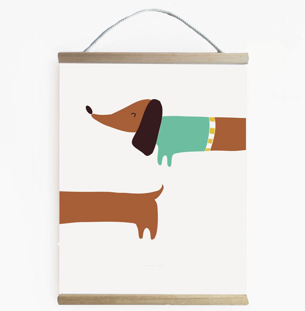 Super Cute Sausage Dog Wall Banner