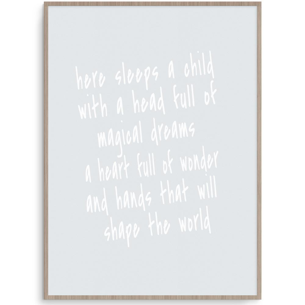 Shape The World Grey Print