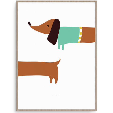 Super Cute Sausage Dog Wall Art