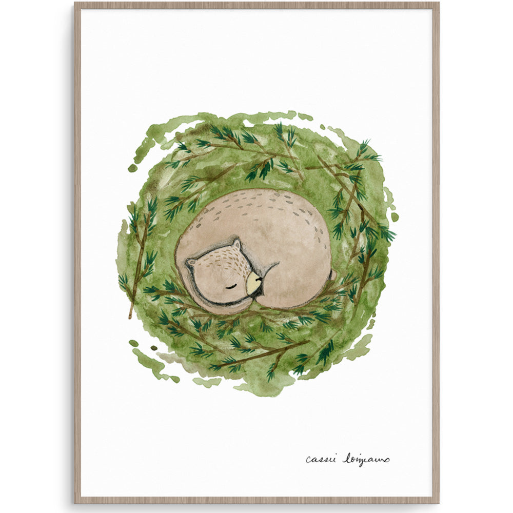Sleeping Bear Nursery Print