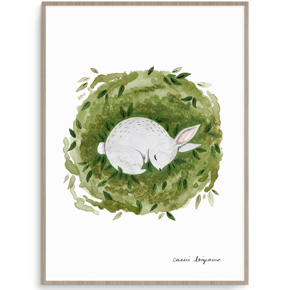 Sleeping Bunny Nursery Art