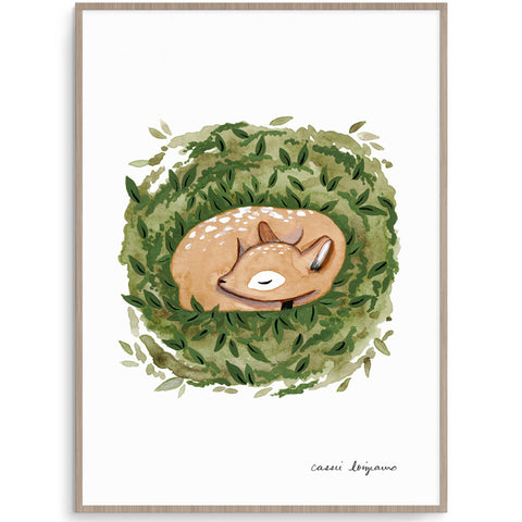 Sleeping Deer Nursery Art