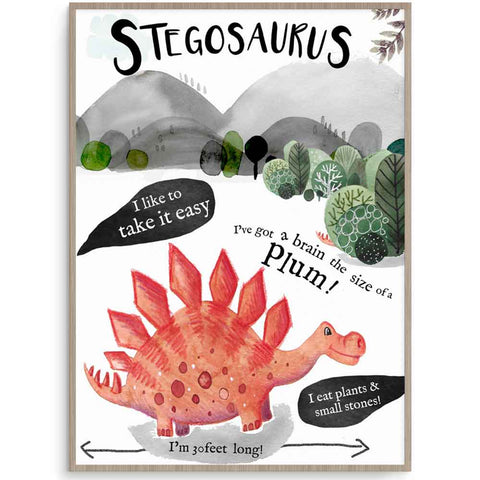 Stegosaurus Wall Art For Boys Room